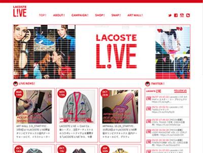 LACOSTE L!VE http://www.lacostelivejapan.com/