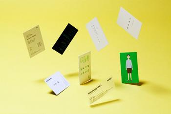 名刺プロジェクトの詳細もHP内に綴られている http://www.wab.cc/project/02_business_card/