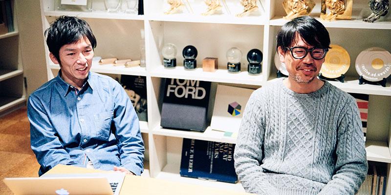 左:取締役 / アートディレクター 藤牧篤さん