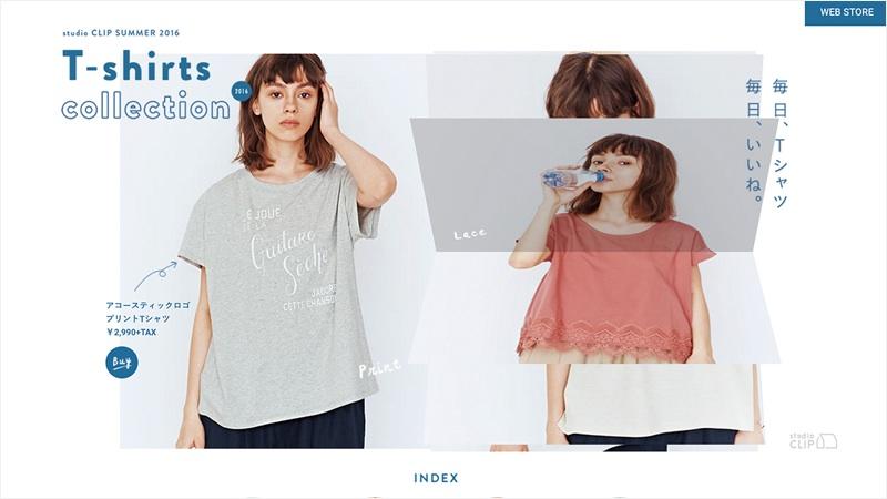 studio CLIP「Tシャツ特集」