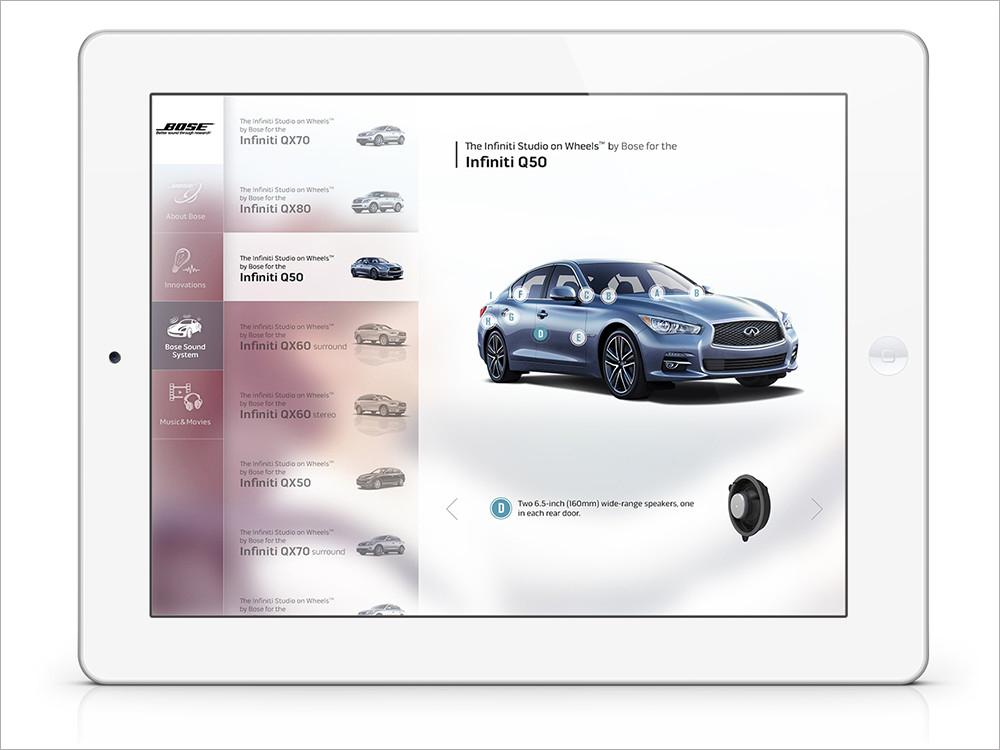 『BOSE Automotive』アプリデザイン