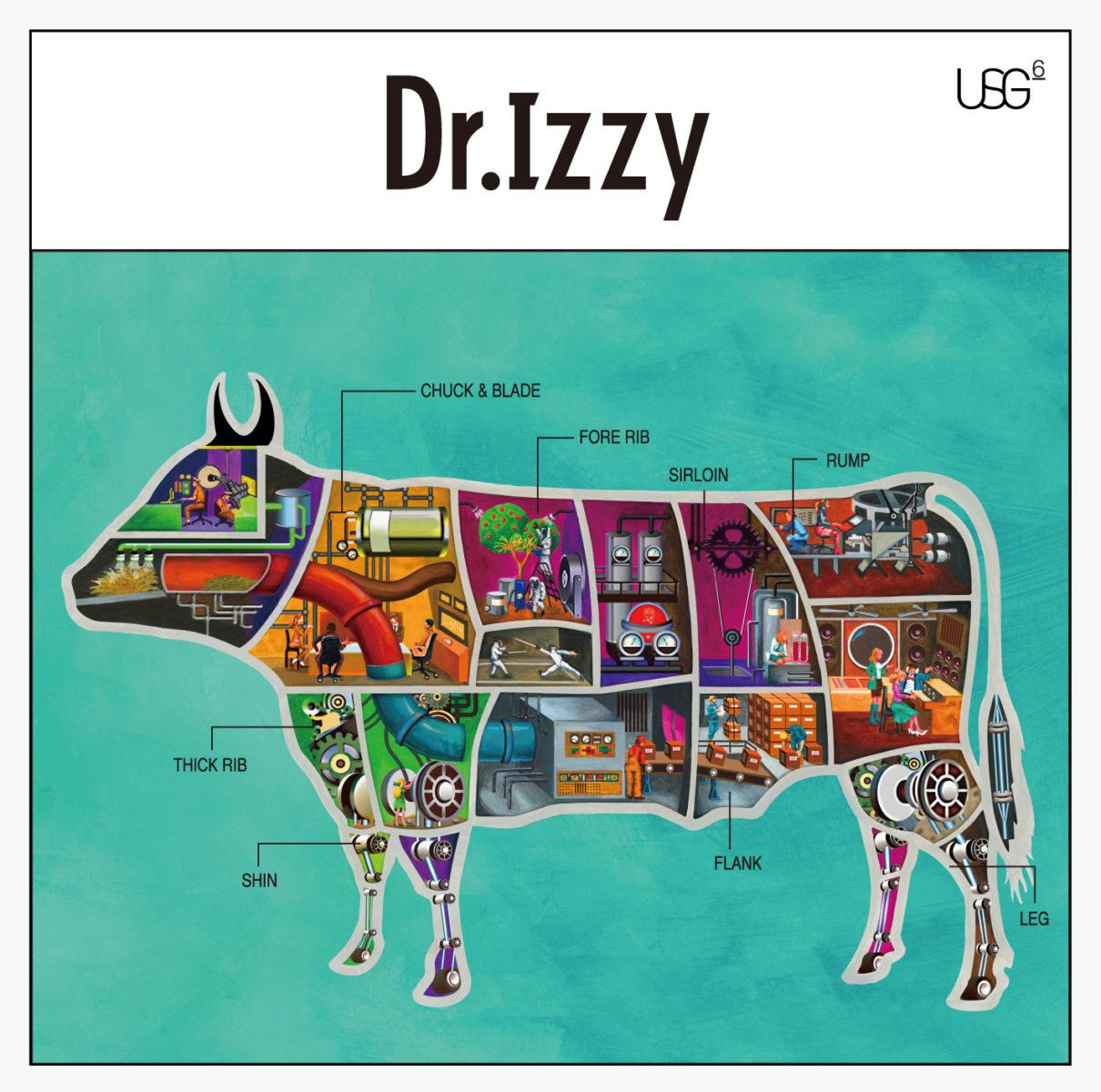 UNISON SQUARE GARDEN『Dr.Izzy』 / CDジャケットデザイン