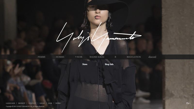 yohji yamamoto ブランドサイト