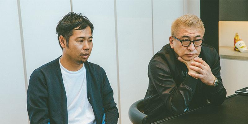 左:デザインディレクター 坂巻陽平 / 右:代表取締役 片山正通