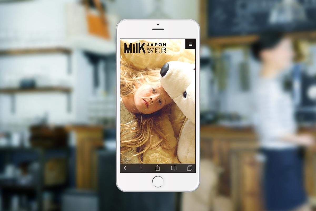 『MilK JAPON WEB』株式会社アマナ