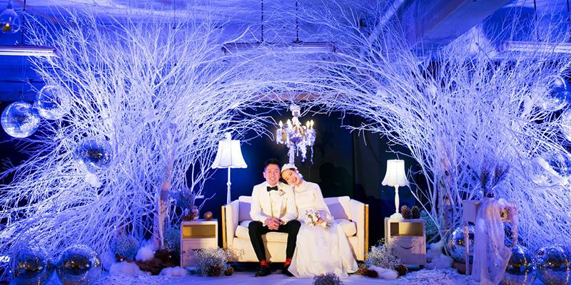 結婚式のコンセプトは「snow dome」 / ウェディングプロデュース事業「CRAZY WEDDING」(画像提供:CRAZY)