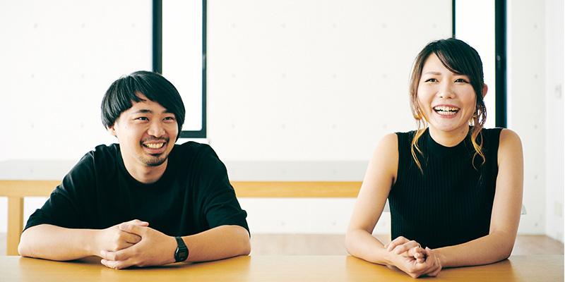 ディレクターの松岡さん(左) プロデューサーの草部さん(右)