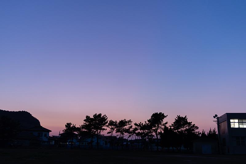 コワーキングスペースから見た夕焼け