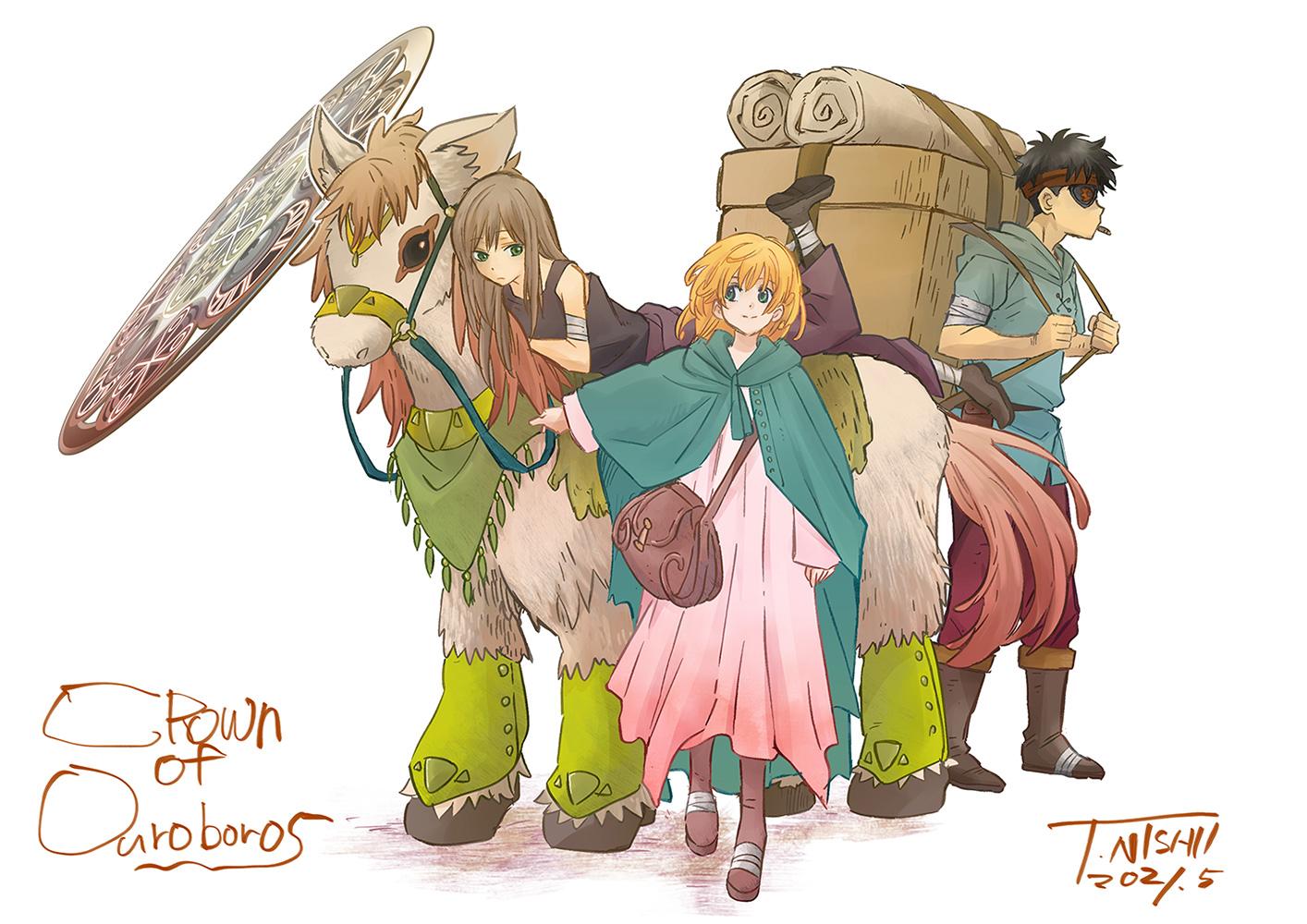 アニメーターと並行して、オリジナル漫画『ウロボロスの冠〜敵国の少女ふたりが出会うとき〜』の制作も続けている西位さん。Kindleにて発売中