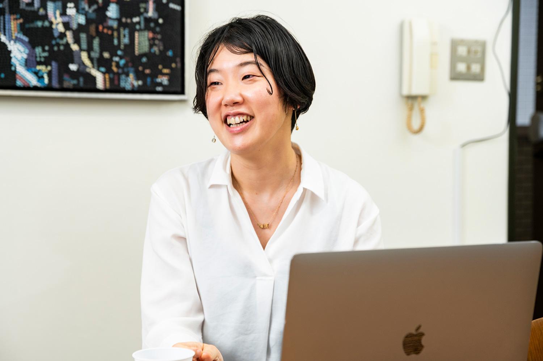 コーポレートITの田中裕子さん。コロナが落ち着いたら台湾でリモートワークを計画中
